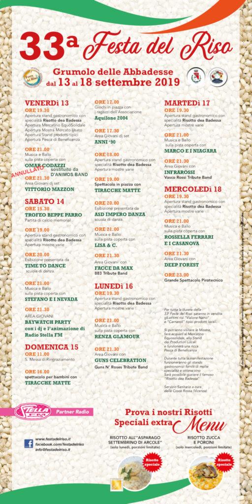 Manifesto della 33ª Festa del Riso